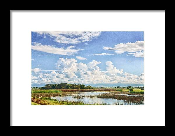 Landscape Framed Print featuring the photograph Cloud Formations by Louise Hill
