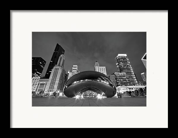 3scape Photos Framed Print featuring the photograph Cloud Gate And Skyline by Adam Romanowicz