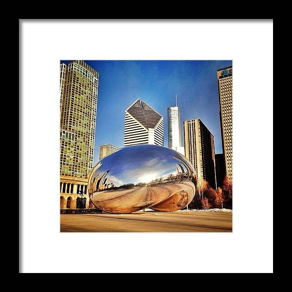 Cloudgate Framed Print featuring the photograph Cloud Gate chicago Bean Sculpture by Paul Velgos