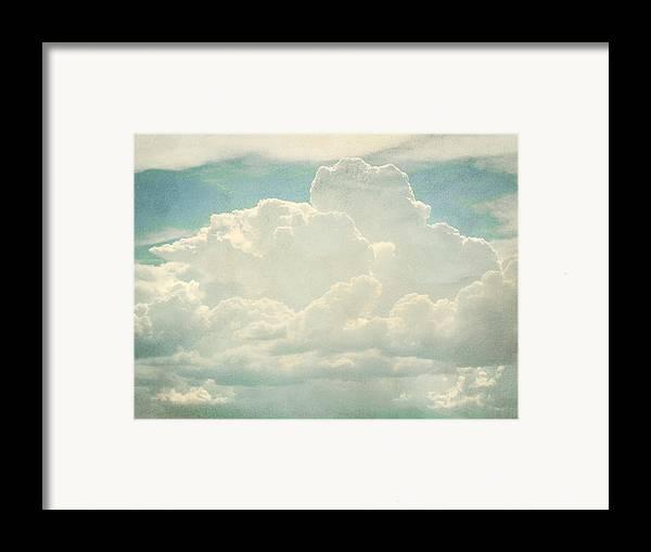 Brett Framed Print featuring the digital art Cloud Series 2 Of 6 by Brett Pfister