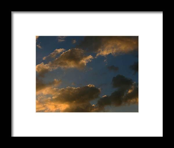 Sunset Framed Print featuring the photograph Cloud Series 34 Of Sunset by Bill Marder