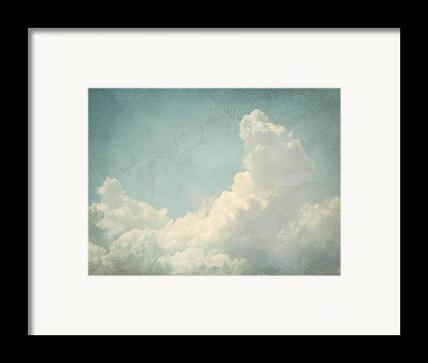 Brett Framed Print featuring the digital art Cloud Series 4 Of 6 by Brett Pfister