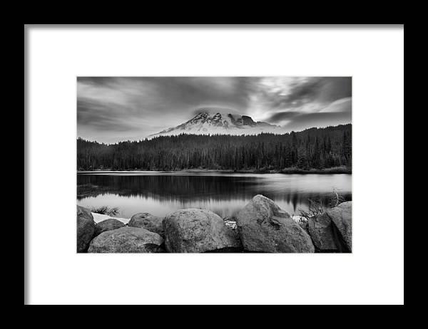 Mount Rainier Framed Print featuring the photograph Cloud Show by Manju Shekhar