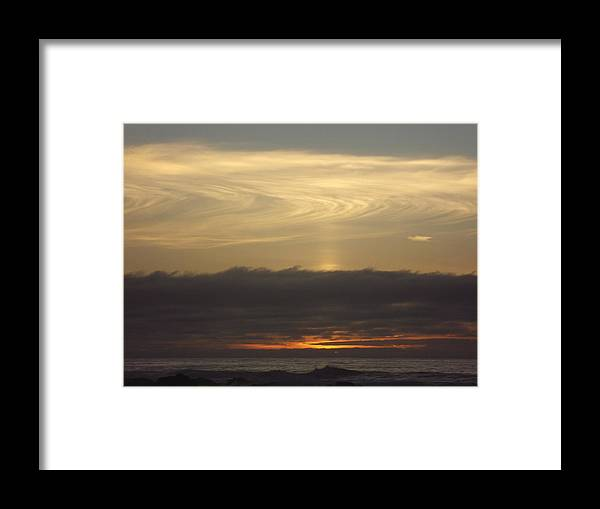 Framed Print featuring the photograph Cloud Swirl by Randy Esson