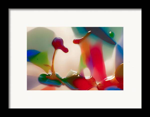 Blue Framed Print featuring the photograph Cloud Talking by Omaste Witkowski