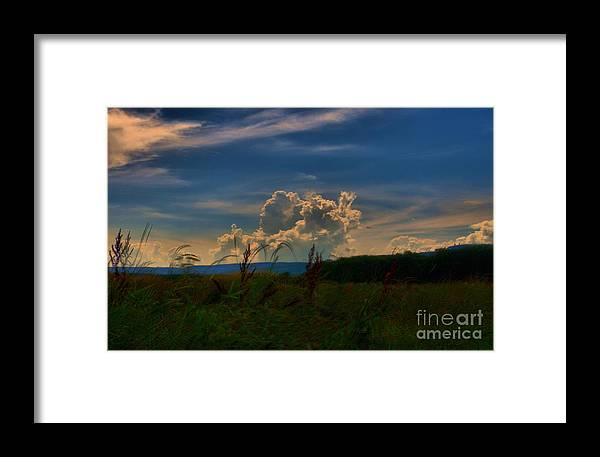 Landscape Framed Print featuring the photograph Clouds # 1 by David Call