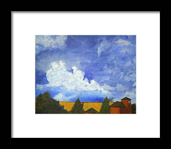 Clouds Framed Print featuring the painting Clouds 1 by David Carson Taylor