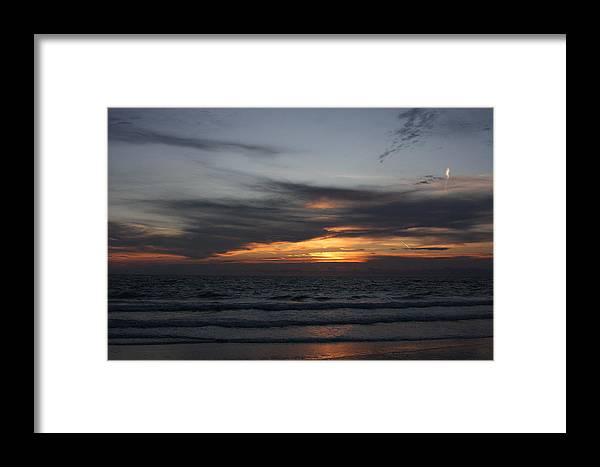 Water Framed Print featuring the photograph Clouds Against The Sunrise by David Rosenthal