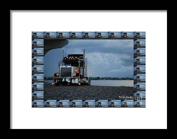 Trucking Framed Print featuring the digital art Clouds Are A Brewin' by Holley Jacobs