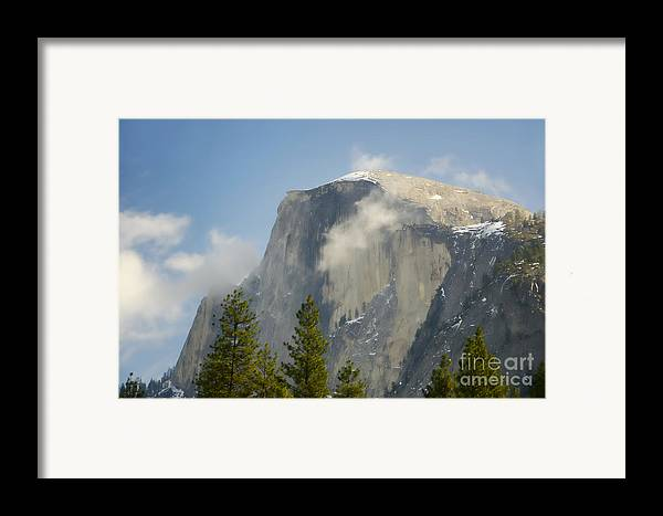 Half Dome Framed Print featuring the photograph Clouds Around Half Dome by Jim And Emily Bush