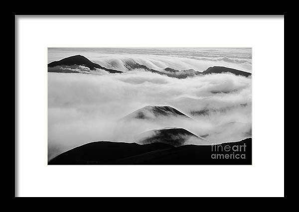 Mountains Framed Print featuring the photograph Maui Hawaii Haleakala National Park Clouds In Haleakala Crater II by Jim Cazel