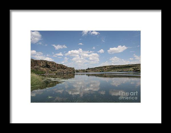 Lake Framed Print featuring the photograph Clouds On Water by Rich Collins