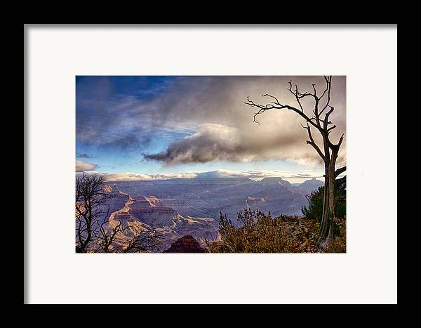 Grand Canyon Framed Print featuring the photograph Clouds Over Canyon by Lisa Spencer