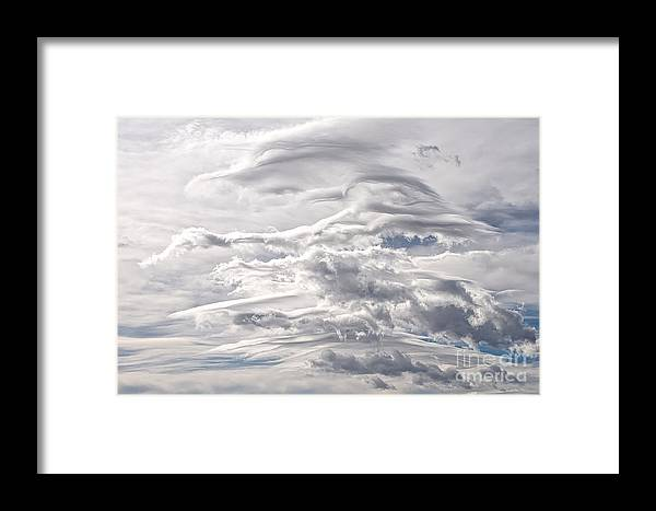 Clouds Framed Print featuring the photograph Clouds Over Caughlin Ranch by Vinnie Oakes