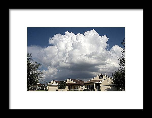 Cumulo-nimbus Framed Print featuring the photograph Clouds Over Clermont by Carl Purcell