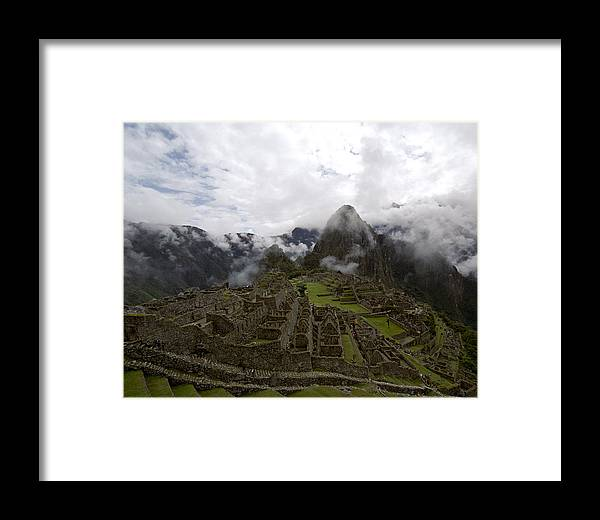 Inca Framed Print featuring the photograph Clouds Over Machu Picchu by Jared Bendis