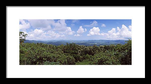 Photography Framed Print featuring the photograph Clouds Over Mountains, Flores Island by Panoramic Images