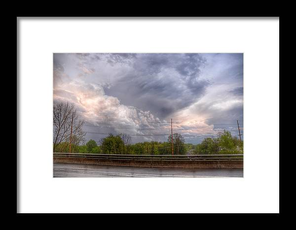Landscape Framed Print featuring the photograph Clouds Over The Highway by Heather Reichel