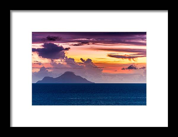 Sea Framed Print featuring the photograph Clouds Over The Sea by Paul Johnson