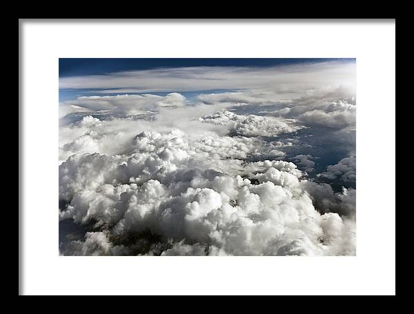 Digital Framed Print featuring the photograph Clouds Over Wyoming by Ronald Gans