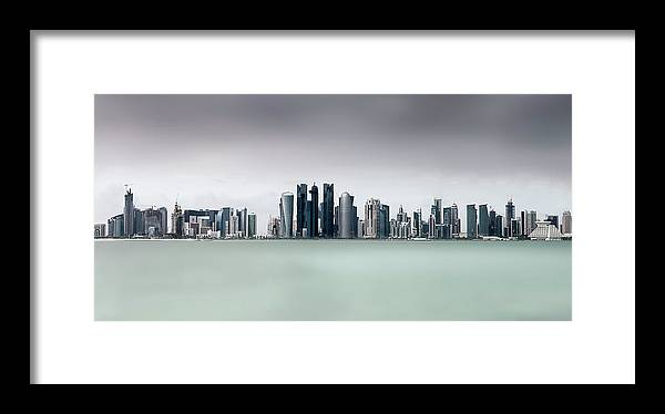 Doha Framed Print featuring the photograph Cloudy Doha .. by Ahmed Lashin