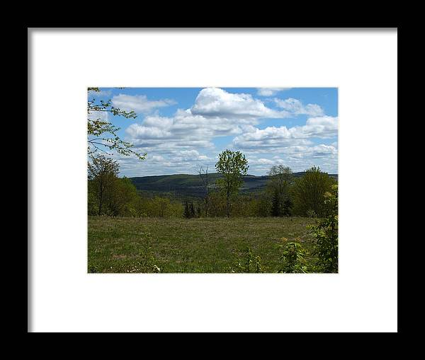 New England Framed Print featuring the photograph Cloudy Valley by Gene Cyr