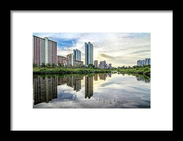 Standing Water Framed Print featuring the photograph Clover Reflections by Tia Photography