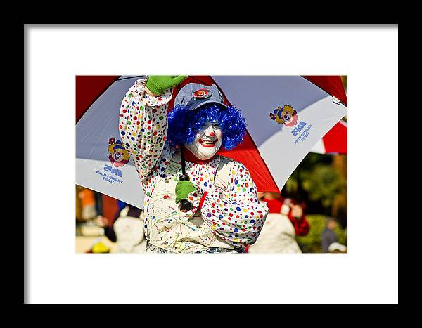 Clown Framed Print featuring the photograph Clowning Around by Jon Berghoff