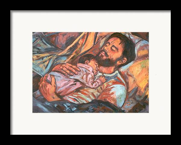 Figure Framed Print featuring the painting Clyde And Alan by Kendall Kessler