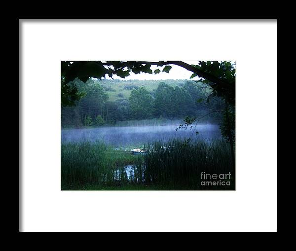 Misty Morning Framed Print featuring the photograph Cmpo4 by Scott B Bennett