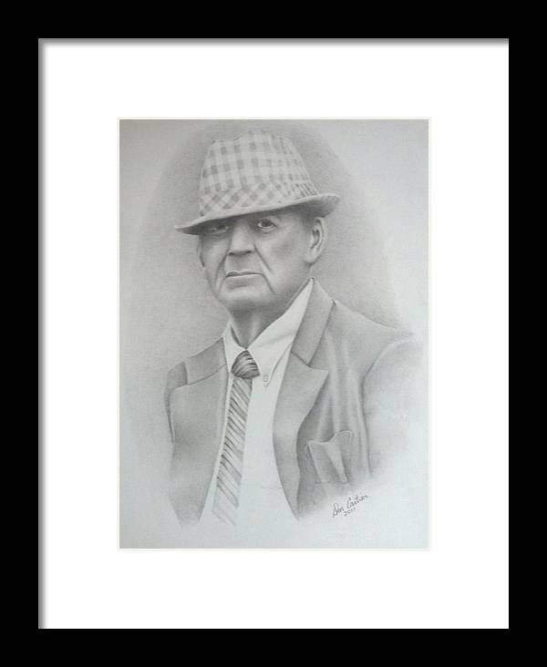 Coach Framed Print featuring the drawing Coach by Don Cartier