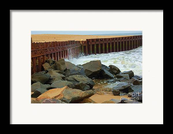 Water Framed Print featuring the photograph Coast Of Carolina by Debbi Granruth
