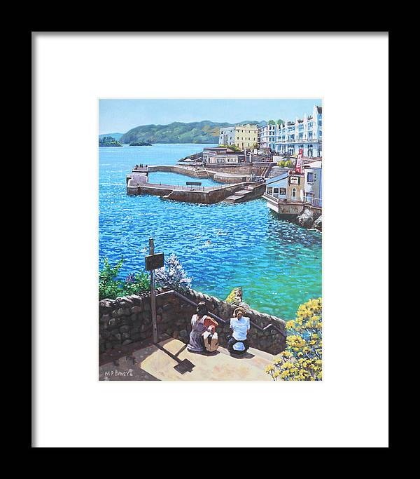 Plymouth Framed Print featuring the painting Coast Of Plymouth City Uk by Martin Davey