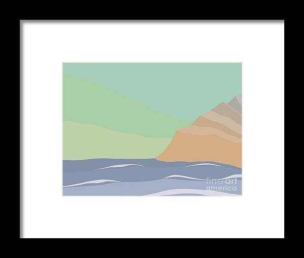 Coast Framed Print featuring the painting Coastal Bank by Henry Manning