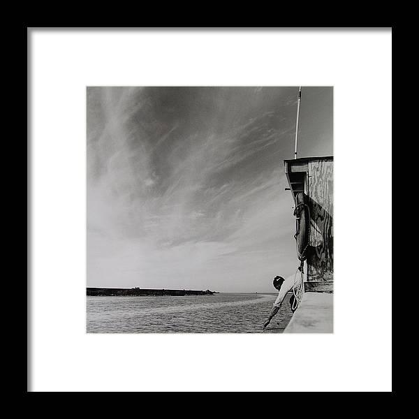 Framed Print featuring the photograph Coastal Bay by Vennie Deas Moore