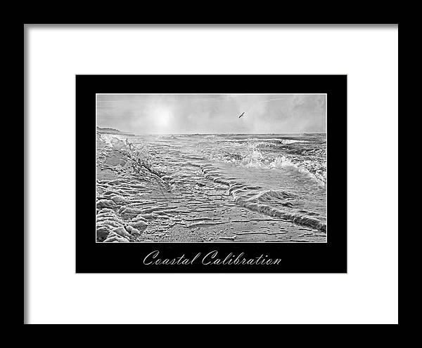 Shore Framed Print featuring the digital art Coastal Calibration by Betsy Knapp