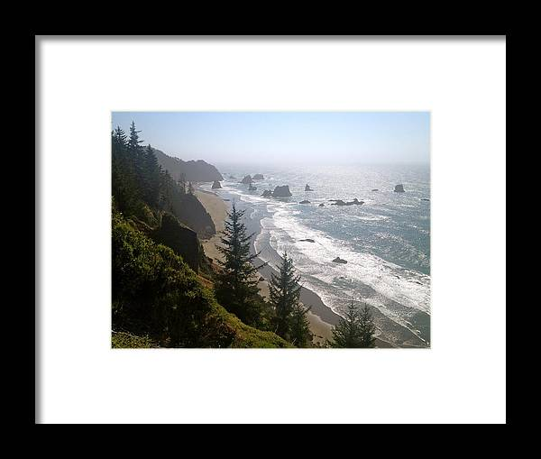 Landscape Framed Print featuring the photograph Coastal Dream by Brooke's Earth Art