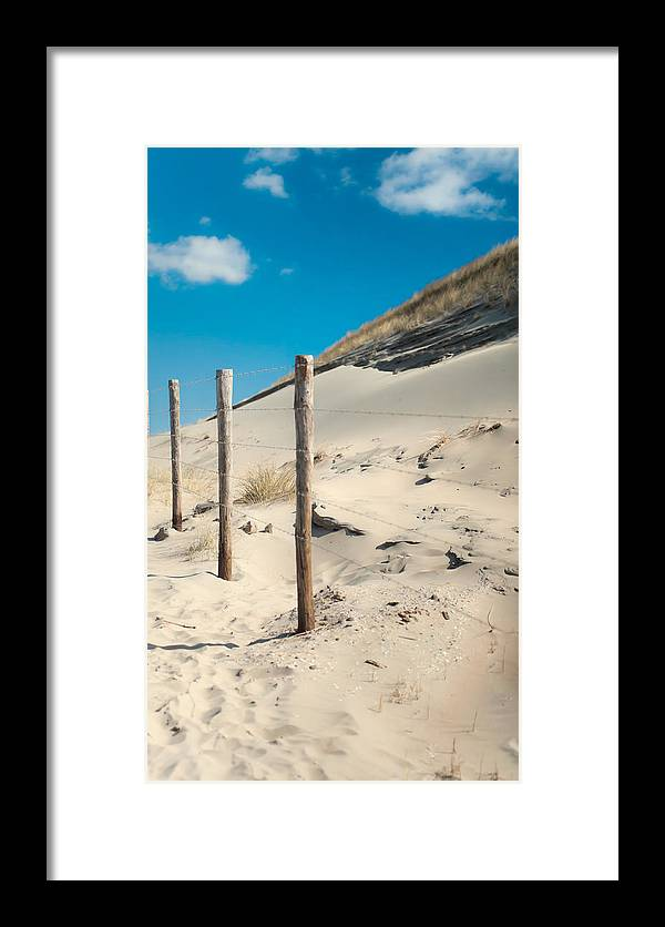 Ature Framed Print featuring the photograph Coastal Dunes In Holland 2 by Jenny Rainbow