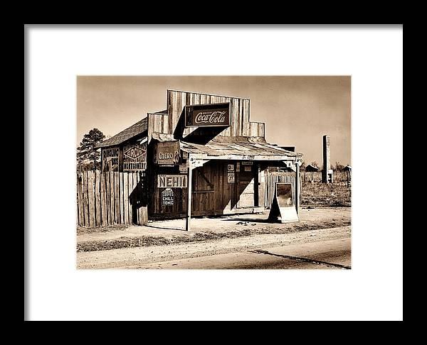 Coke Framed Print featuring the photograph Coca Cola Shack by Benjamin Yeager