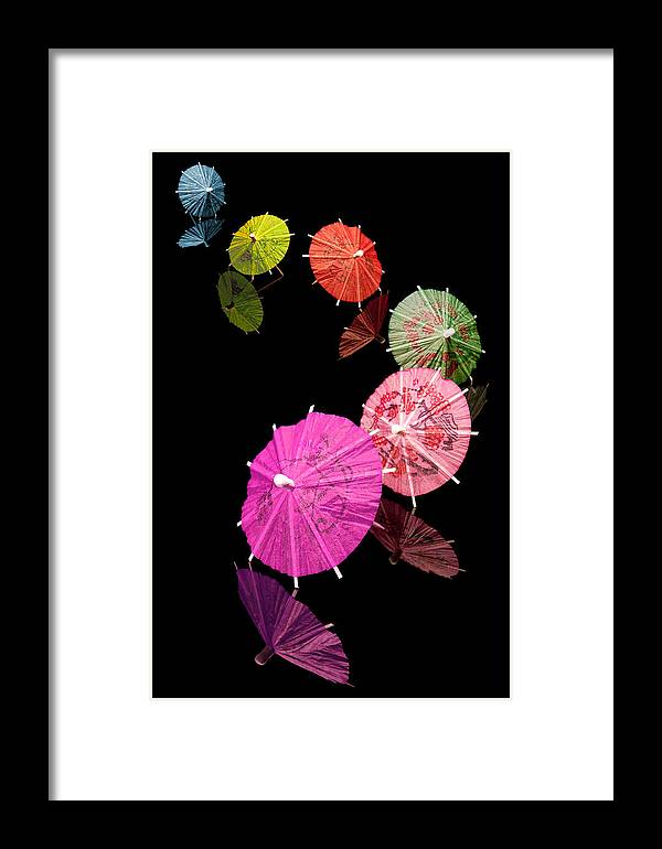 Cocktail Framed Print featuring the photograph Cocktail Umbrellas Xii by Tom Mc Nemar