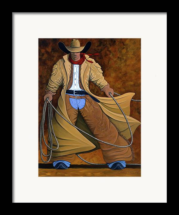 Contemporary Western Framed Print featuring the painting Cody by Lance Headlee