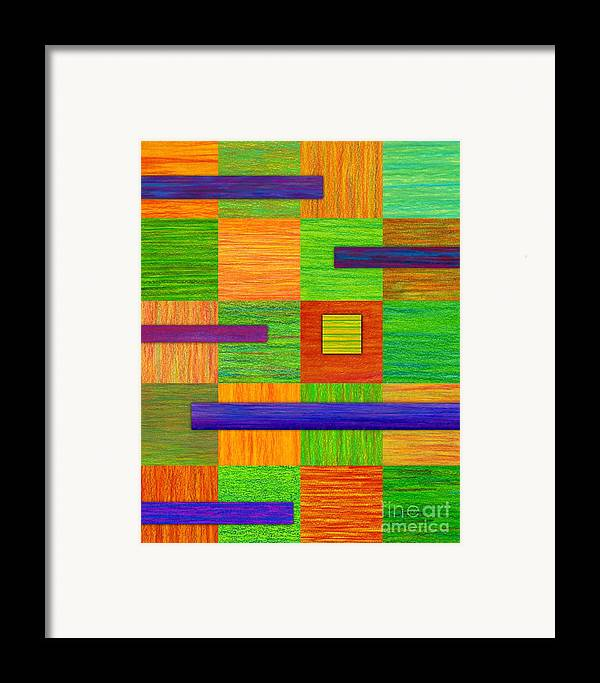 Colored Pencil Framed Print featuring the painting Coexist by David K Small