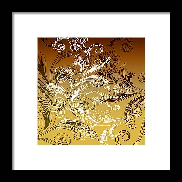 Flowers Framed Print featuring the digital art Coffee Flowers 4 Calypso by Angelina Vick
