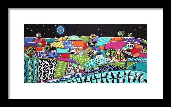 Folk Art Framed Print featuring the painting Cohort by Karla Gerard