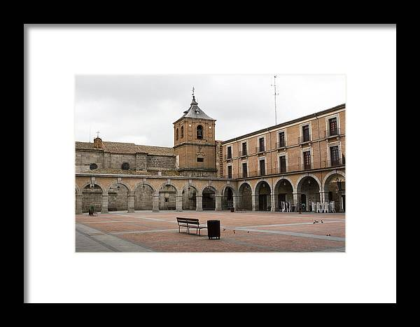 Cathedral Framed Print featuring the photograph Cold Courtyard Avila by Lorraine Devon Wilke