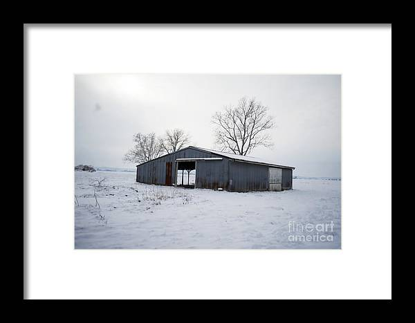Framed Print featuring the photograph Cold Desolation by Luther Fine Art