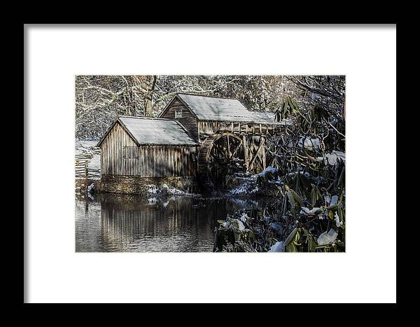 Winter Framed Print featuring the photograph Winter Mill by Nick Spencer