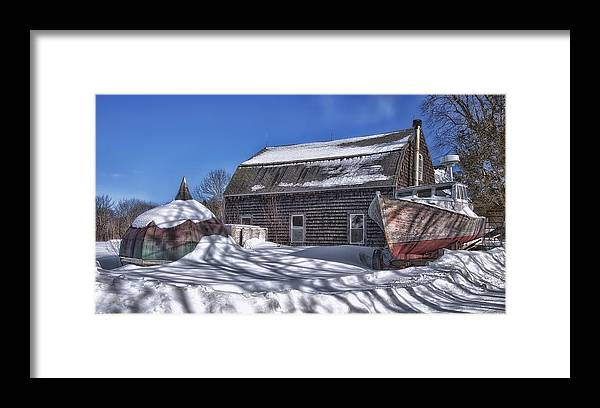 Allen's Framed Print featuring the photograph Cold Nipping at You by Richard Bean