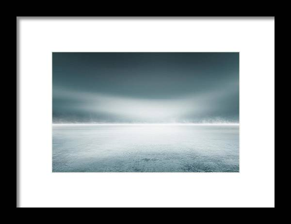 Tranquility Framed Print featuring the digital art Cold Studio Background by Aaron Foster