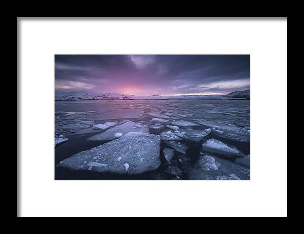 Landscape Framed Print featuring the photograph Cold World by Carlos F. Turienzo
